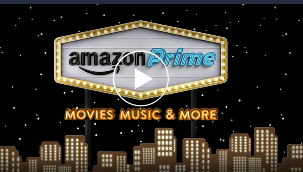 Amazon Prime landing page visual