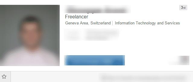 Example of a bad LinkedIn headline