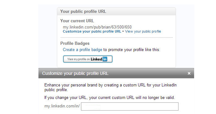 Getting a vanity URL for LinkedIn