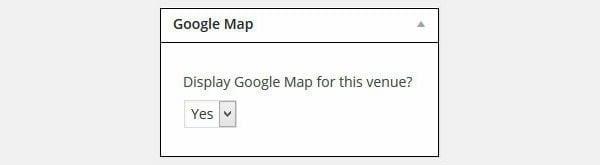 Add Google Map Metabox