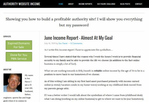 Authority Website Income