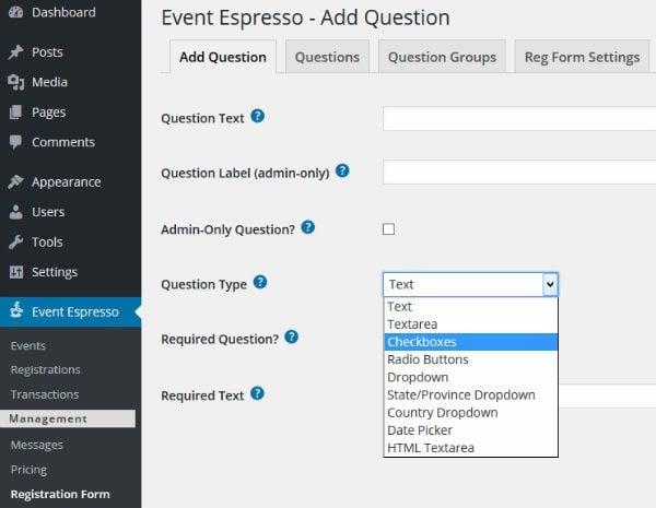 Event Espresso Ask Question