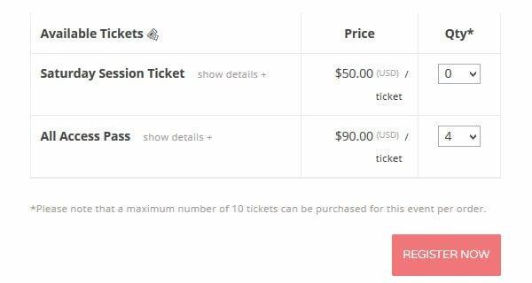 Event Espresso Buy Tickets