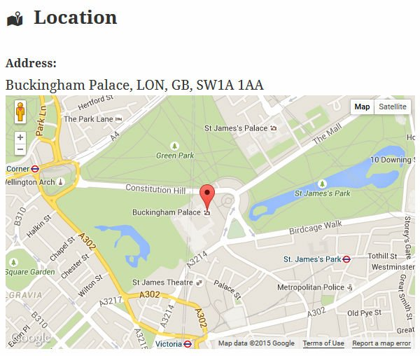 Venue Location Screenshot