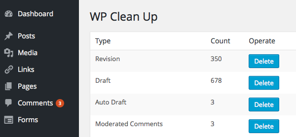 WP-Clean-Up