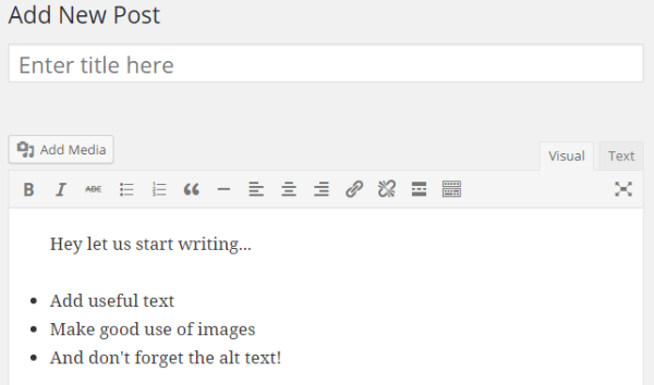 WordPress Plugin Development - Test Plugin Result