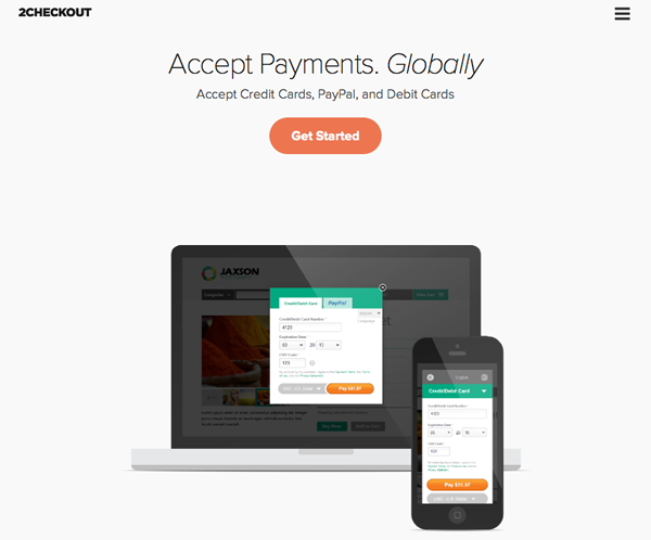 Accept Credit and Debit Card Payments with 2Checkout