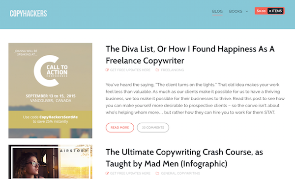 CopyHackers teaches conversion copywriting