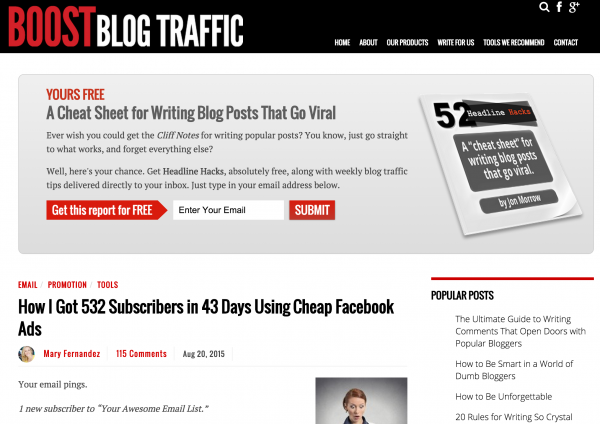 learn how to write copy on boost blog traffic