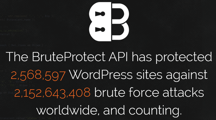 The BruteProtect API has protected WordPress sites against brute force attacks worldwide and counting.