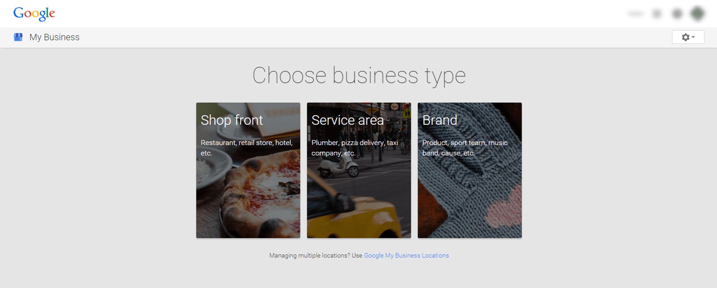 Set up new Google+ Business Page.