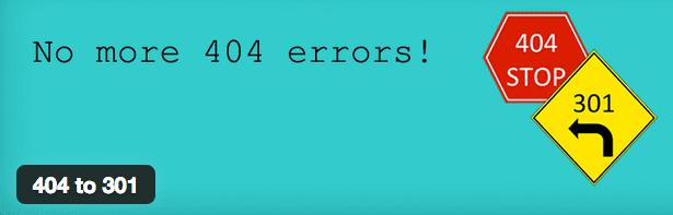 404 to 301 plugin