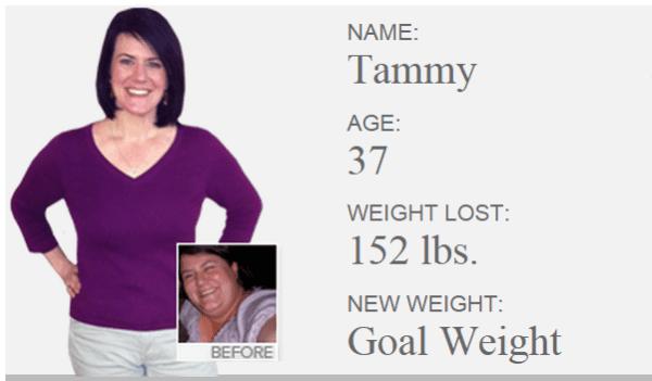 Tammy losing weight