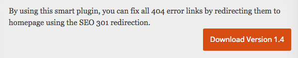 All 404 Redirect plugin
