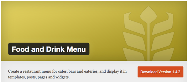 Another freemium WordPress restaurant menu plugin