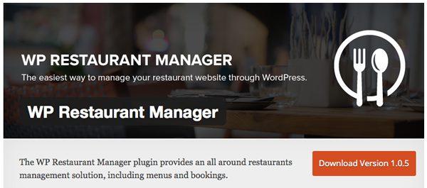 Restaurant Plugins WP-restaurant-manager