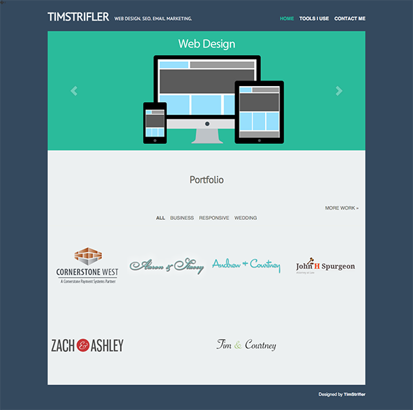 Divi-Site-Makeover-Tim-Strifler-BEFORE