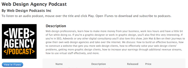 Web Agency Podcast