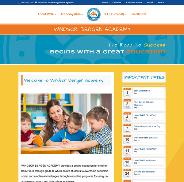 Divi-Site-Makeover-Windsor-Academy-AFTER