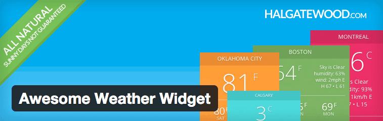 Awesome Weather plugin.