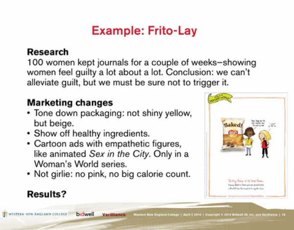 Frito Lay is a classic neuromarketing example
