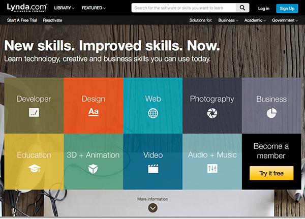 Lynda Homepage