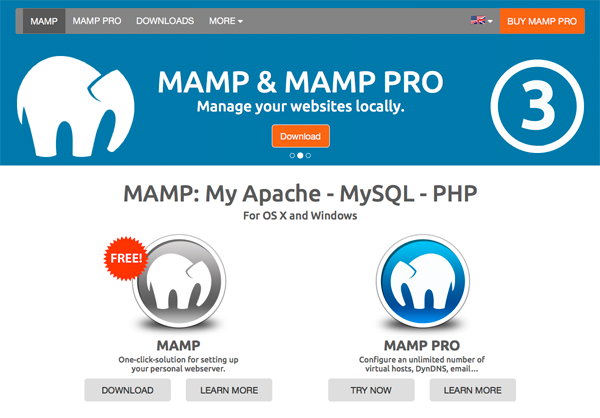 MAMP Local Server for Mac