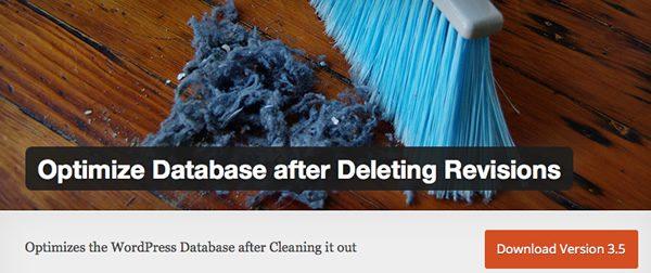 optimize database after deleting revision