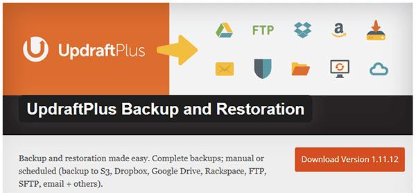 UpdraftPlus Backup and Restoration plugin.