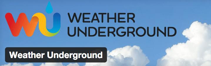 Weather Underground plugin.