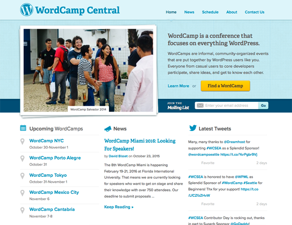 WordCamp Homepage