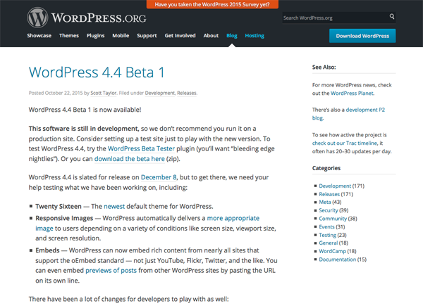 WordPress.org News