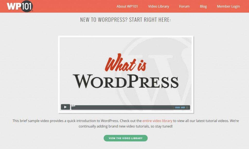 WP101 WordPress training videos