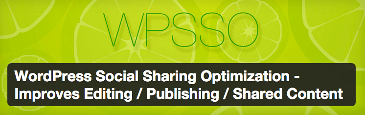 WordPress Social Sharing Optimization plugin.