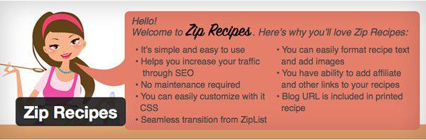 Zip Recipes WordPress Plugin