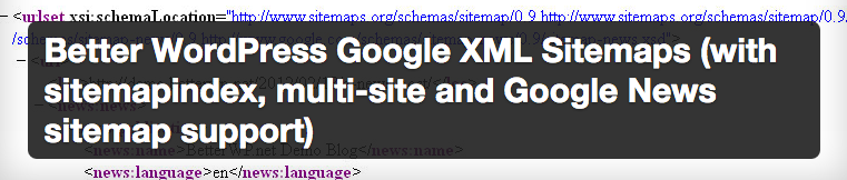 Better WordPress Google XML Sitemap plugin