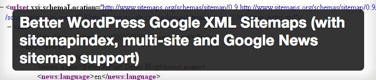 Better WordPress Google XML Sitemap plugin