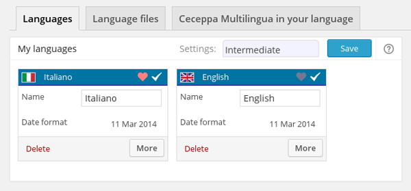 Ceceppa Multilingual Language Selection