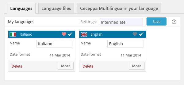 Ceceppa Multilingual Language Selection