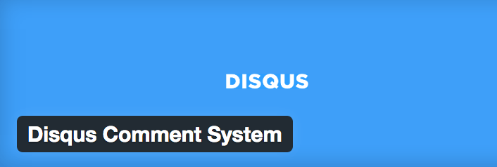 Disqus Comments System plugin.