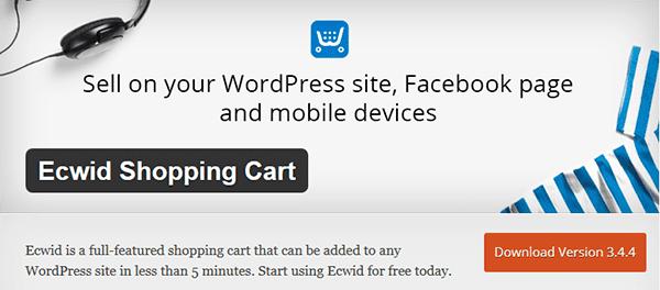 Ecwid WordPress product listing
