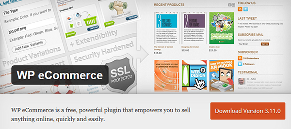 WP eCommerce Product listing