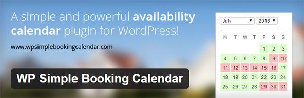 WP Simple Booking Calendar Header