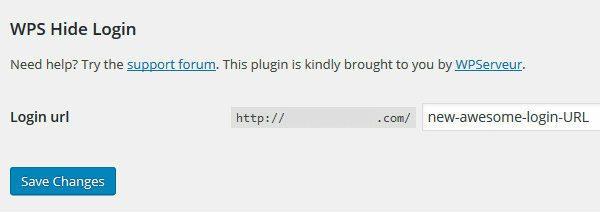 Change WordPress login URL