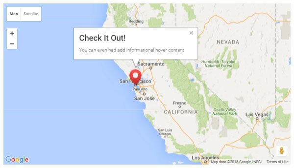 Publish a custom Google Map