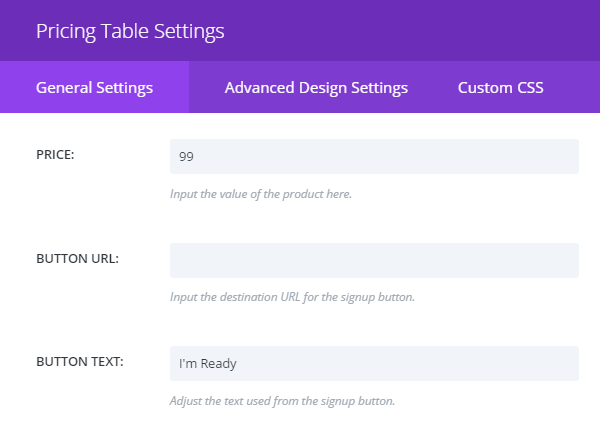 Creating the price comparison tables