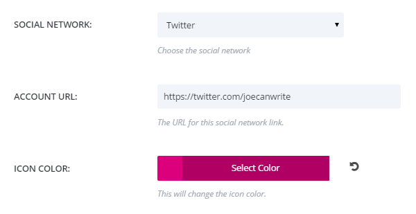 Customize the social media icons
