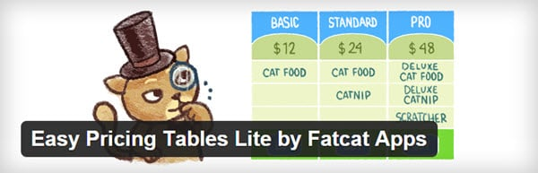 Free Easy Pricing Table