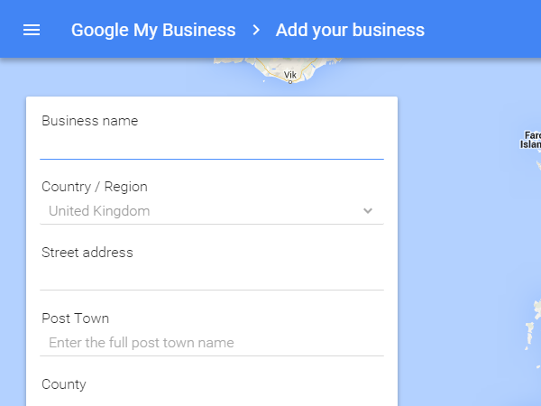 Add your business details