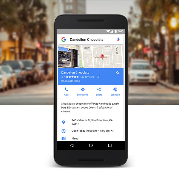 Google My Places Mobile Friendly
